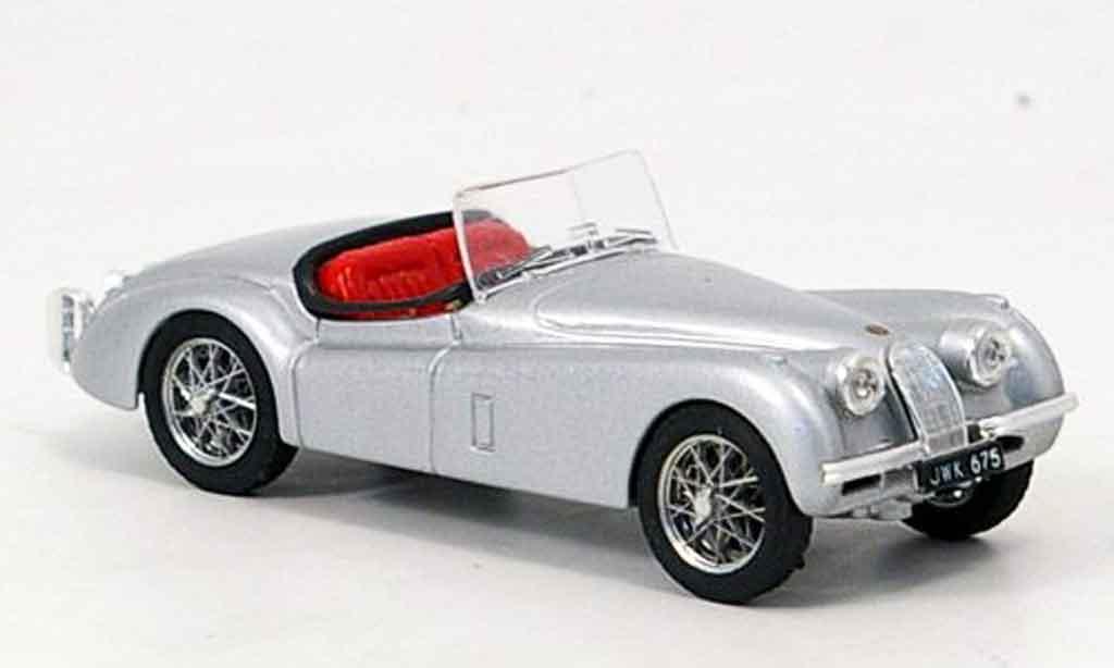 Jaguar XK 120 1/43 Brumm spider grise metallisee offen 1948 miniature