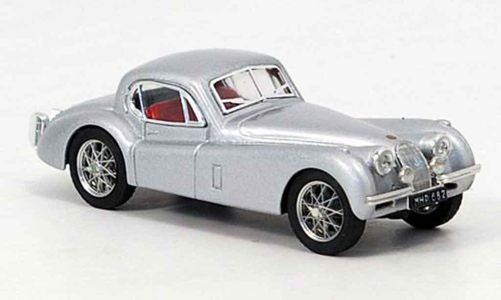 Jaguar XK 120 1/43 Brumm coupe grise metallisee 1948 miniature