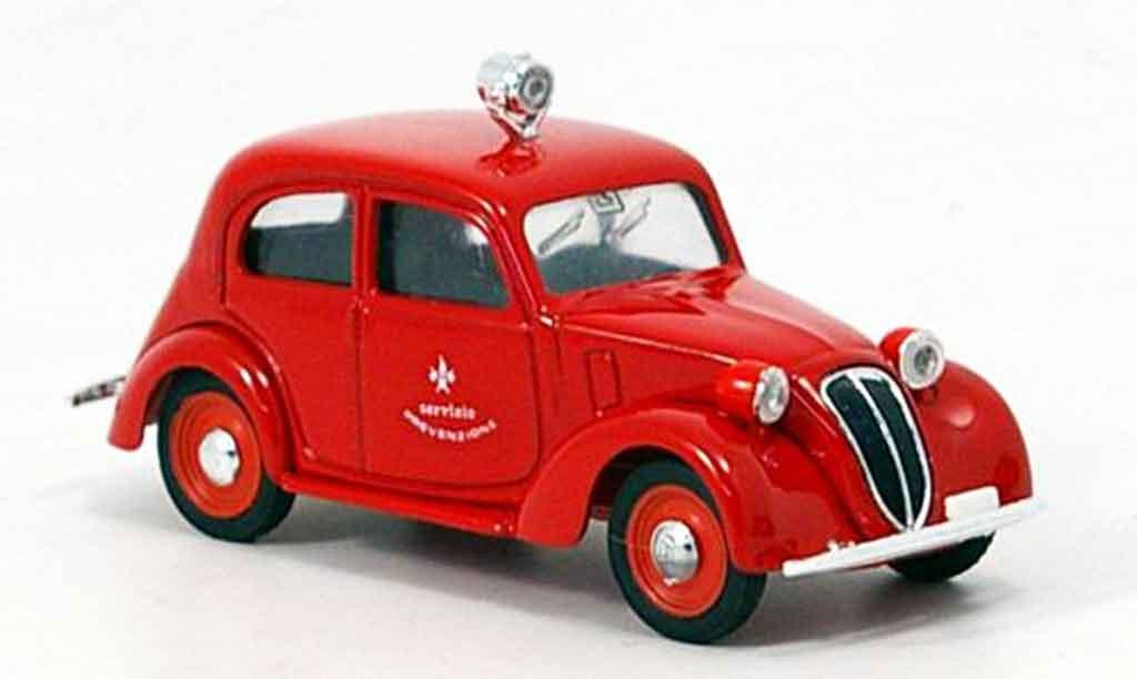 Fiat 1100 1937 1/43 Brumm pompier Italien miniature