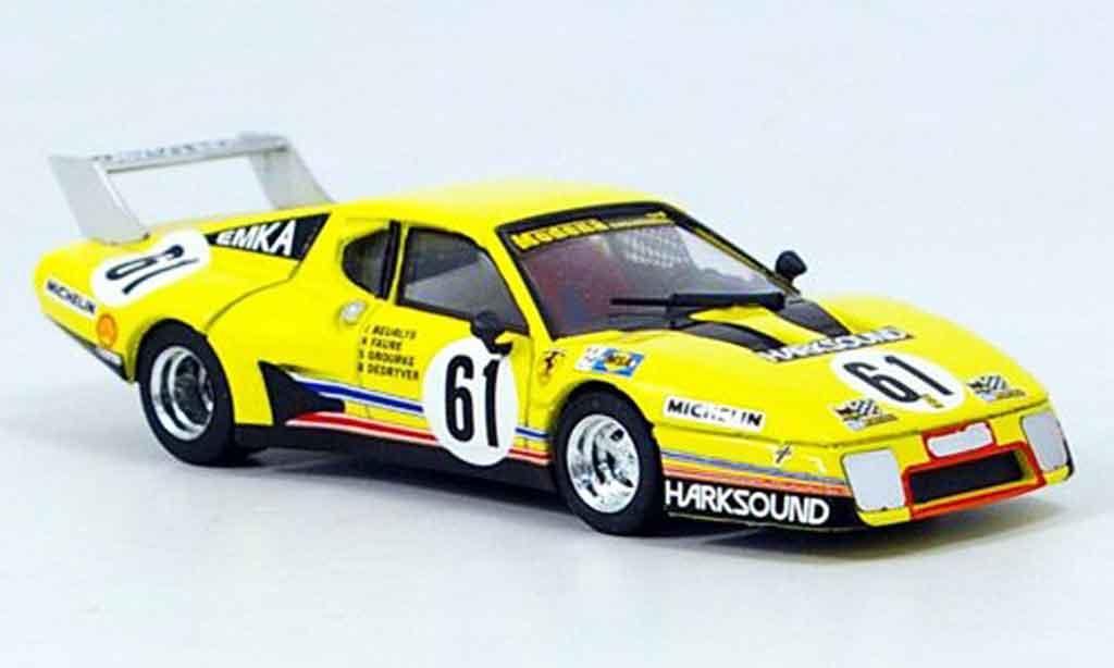 Ferrari 512 BB 1/43 Brumm no.61 beurlys le mans 1979 miniature