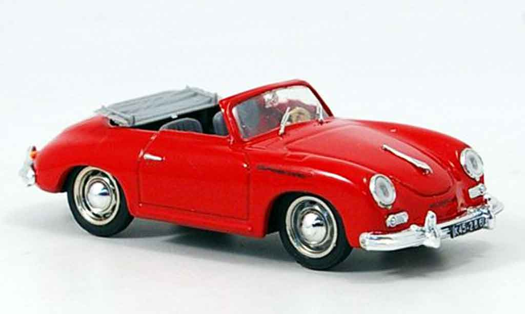 Porsche 356 1952 1/43 Brumm A Cabrio rouge miniature