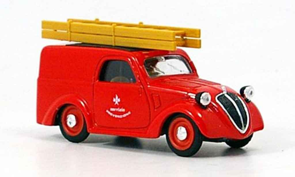 Fiat 500 1/43 Brumm B Lieferwagen pompier Italilen 1946 diecast model cars
