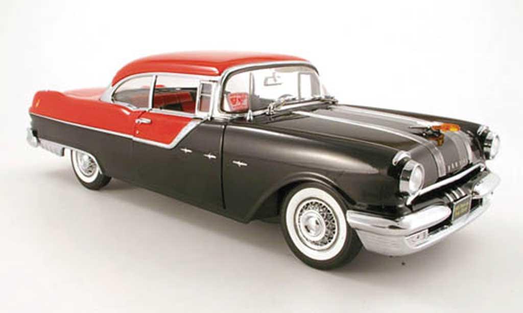 Pontiac Star Chief 1/18 Sun Star hard top noire rouge 1955 miniature