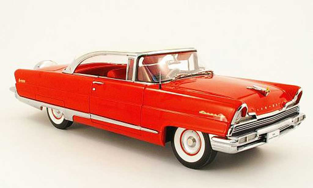 Lincoln Premiere 1/18 Sun Star hard top rouge/blanche 1956 miniature