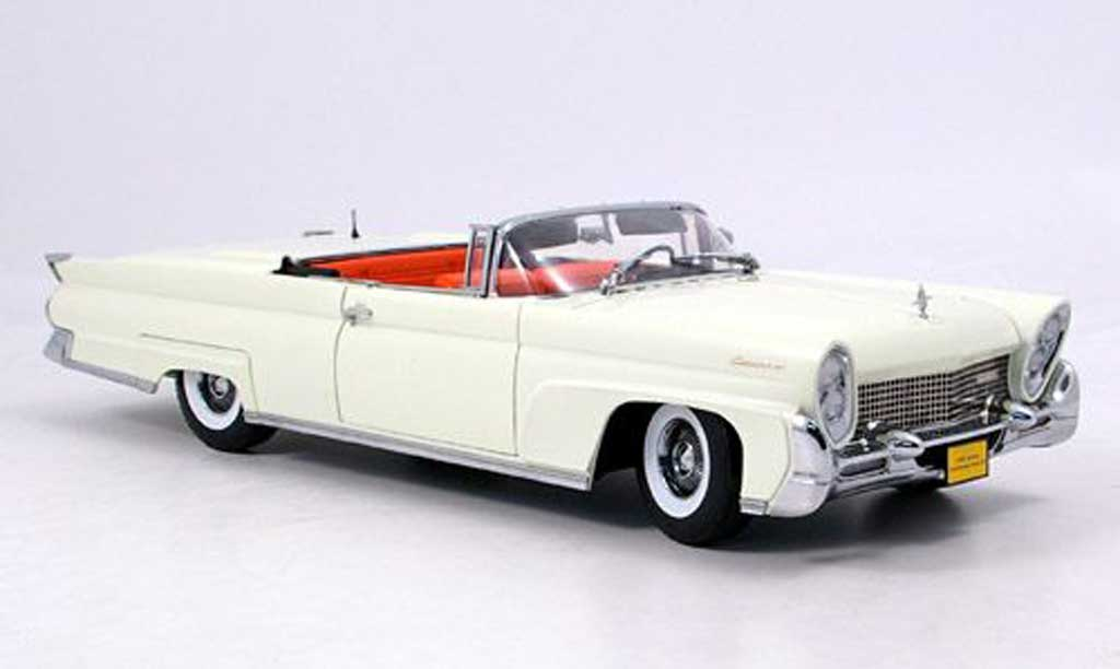Lincoln Continental 1958 1/18 Sun Star mark iii blanche miniature
