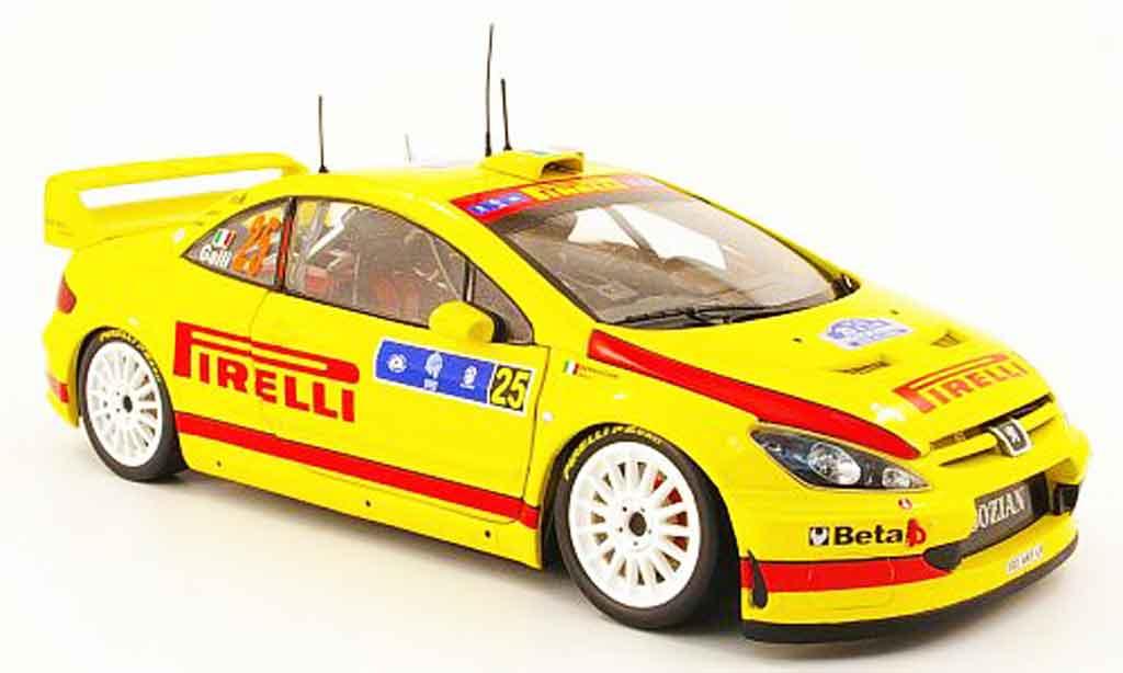 Peugeot 307 WRC 1/18 Sun Star no.25 pirelli tour de corse 2006 miniature