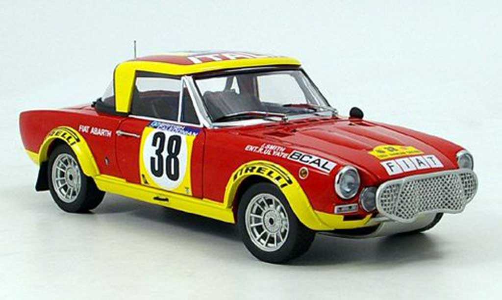 Fiat 124 Abarth 1/18 Sun Star Abarth ulyate east african safari 1975 miniature