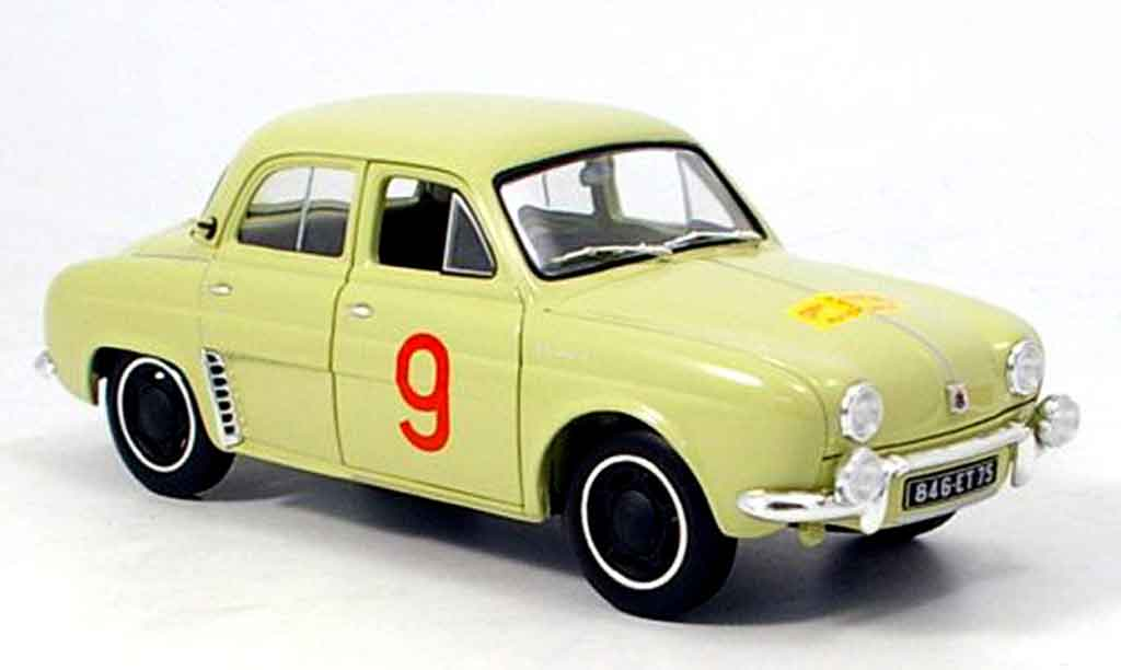 renault dauphine miniature no 9 tour de course 1956 norev 1 18 voiture. Black Bedroom Furniture Sets. Home Design Ideas