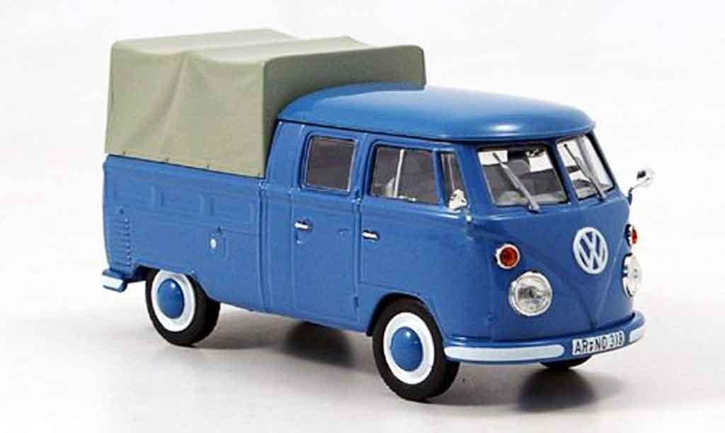 Volkswagen Combi 1/43 Norev t 1 doppelkabine bleu 1963 miniature