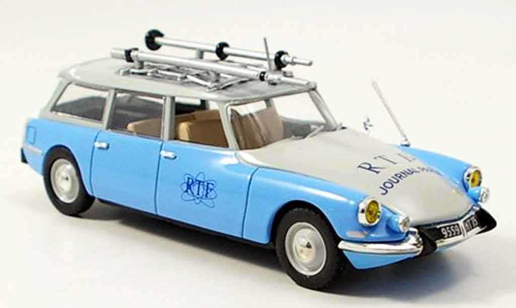 Citroen ID 19 1/43 Norev break rtf bleu 1963 miniature