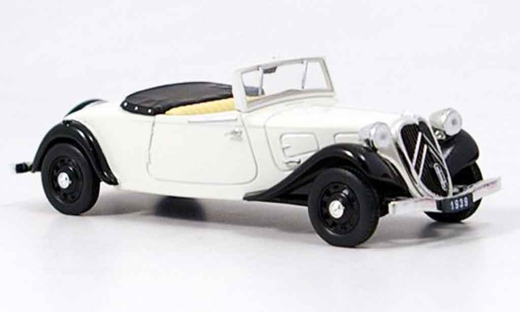 Citroen Traction Roadster 1/43 Eagle blanche 1939 miniature
