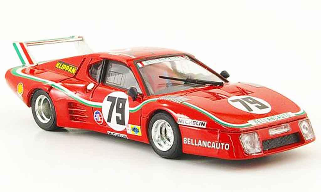 Ferrari 512 BB LM 1/43 Brumm no.79 bellancauto 24h le mans 1980 modellautos