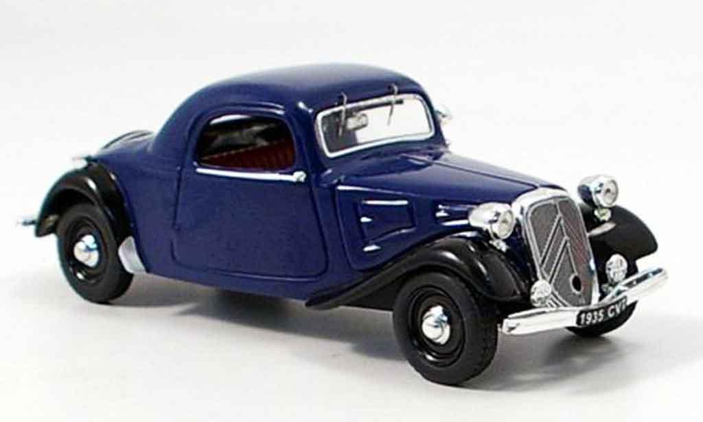 Citroen 7CV 1/43 Vitesse coupe bleu noire miniature