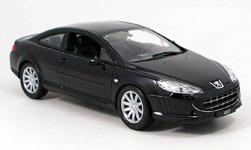 peugeot 407 coupe miniature noire welly 1 18 voiture. Black Bedroom Furniture Sets. Home Design Ideas