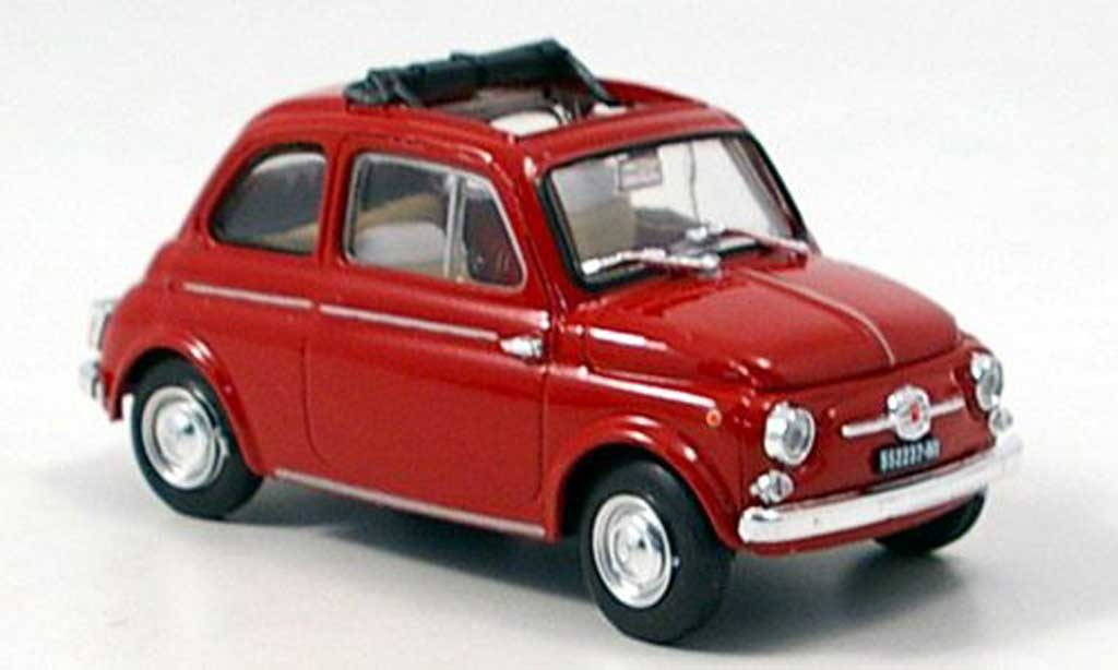 Fiat 500 1/43 Brumm D red 1960 diecast model cars