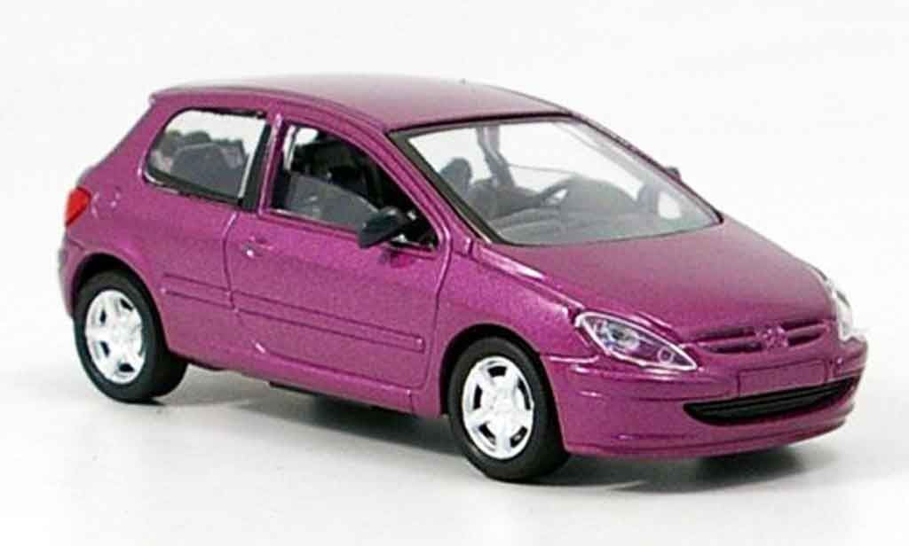 Peugeot 307 1/43 Solido lila diecast model cars