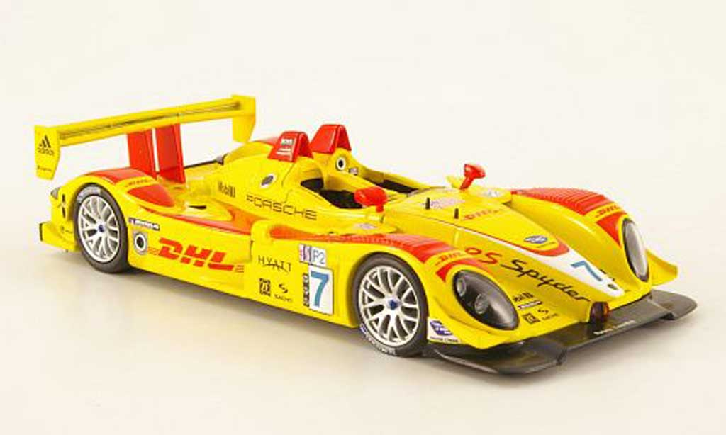 Porsche RS Spyder 1/43 Minichamps No.7 DHL ALMS GP Long Beach 2007 diecast model cars