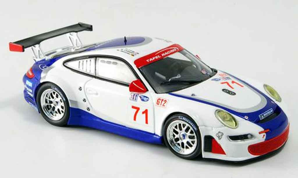 Porsche 997 GT3 RSR 2007 1/43 Minichamps Henzler Lidell Long miniature