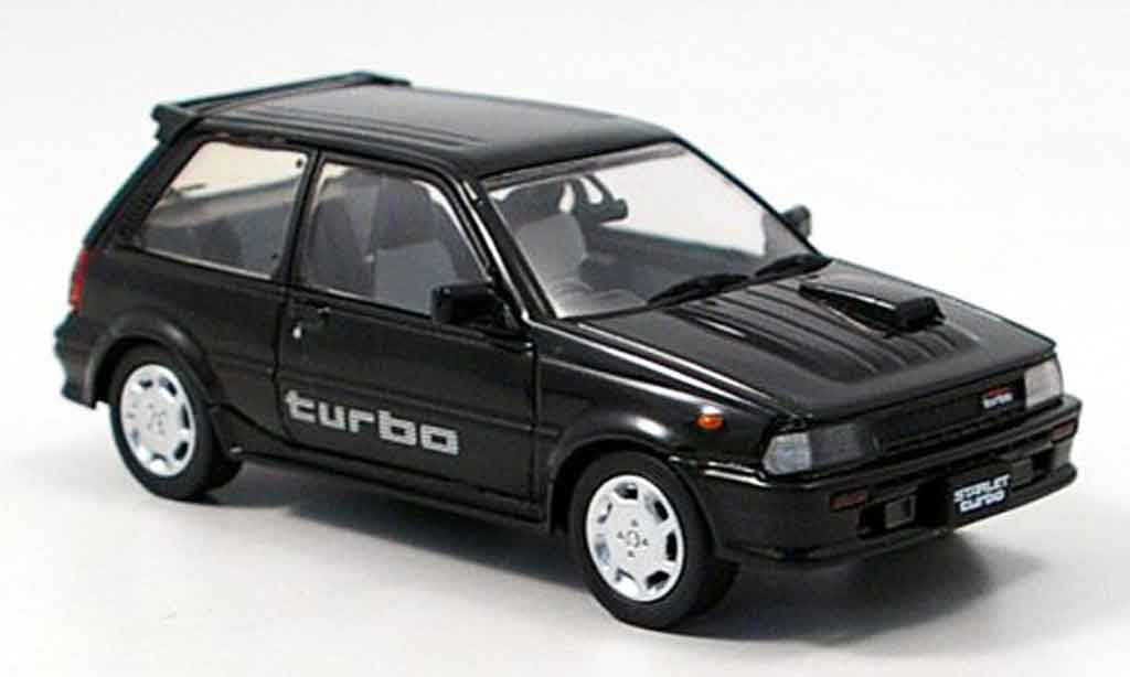 Toyota Starlet 1/43 Aoshima turbo s noire 1986 miniature