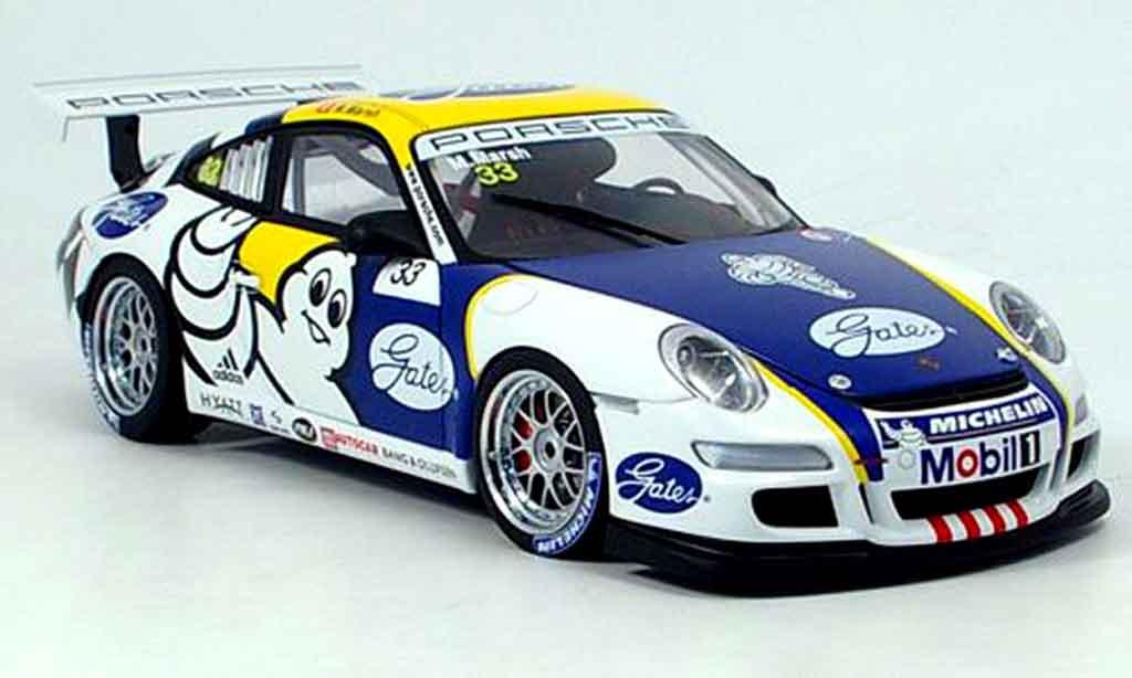 Porsche 997 GT3 CUP 1/18 Autoart GT3 Cup 2006 no. 33 marsh miniature