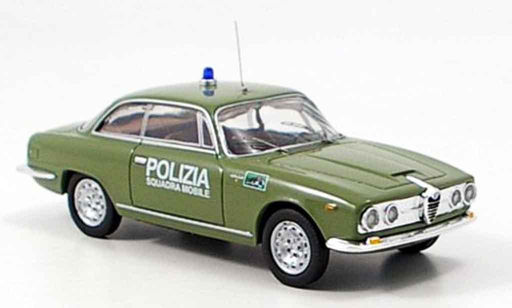 Miniature Alfa Romeo 2600 sprint police 1962 M4. Alfa Romeo 2600 sprint police 1962 Police miniature 1/43