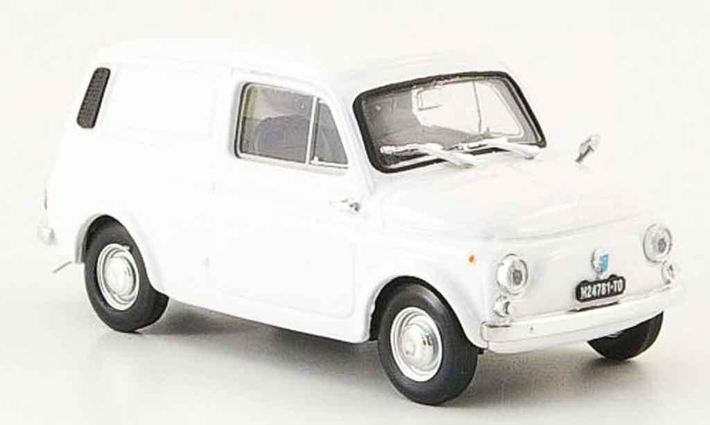 Autobianchi Furgoncino 1/43 Brumm 500 blanche 1972 miniature