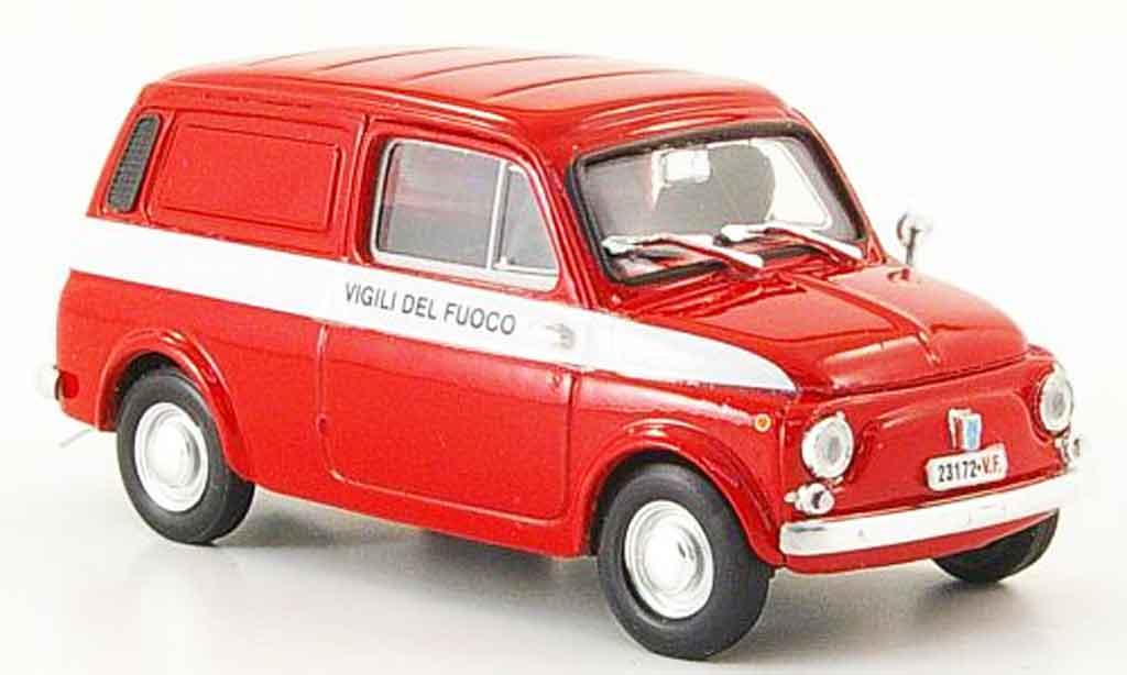 Autobianchi Furgoncino 1/43 Brumm 500 Vigili de Fuoco 1972 miniature