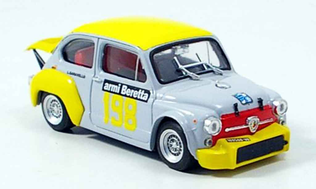 Fiat Abarth 1000 1/43 Brumm No.198 Scuderia Brescia 1972 diecast model cars