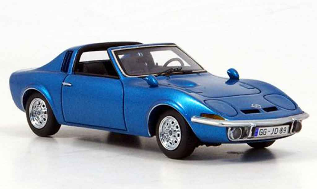 Opel GT Aero 1/43 Neo bleu 1969 miniature