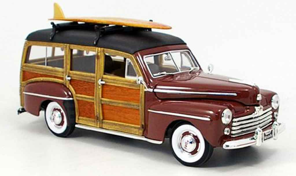 Ford Woody 1/18 Yat Ming marron 1948 miniature