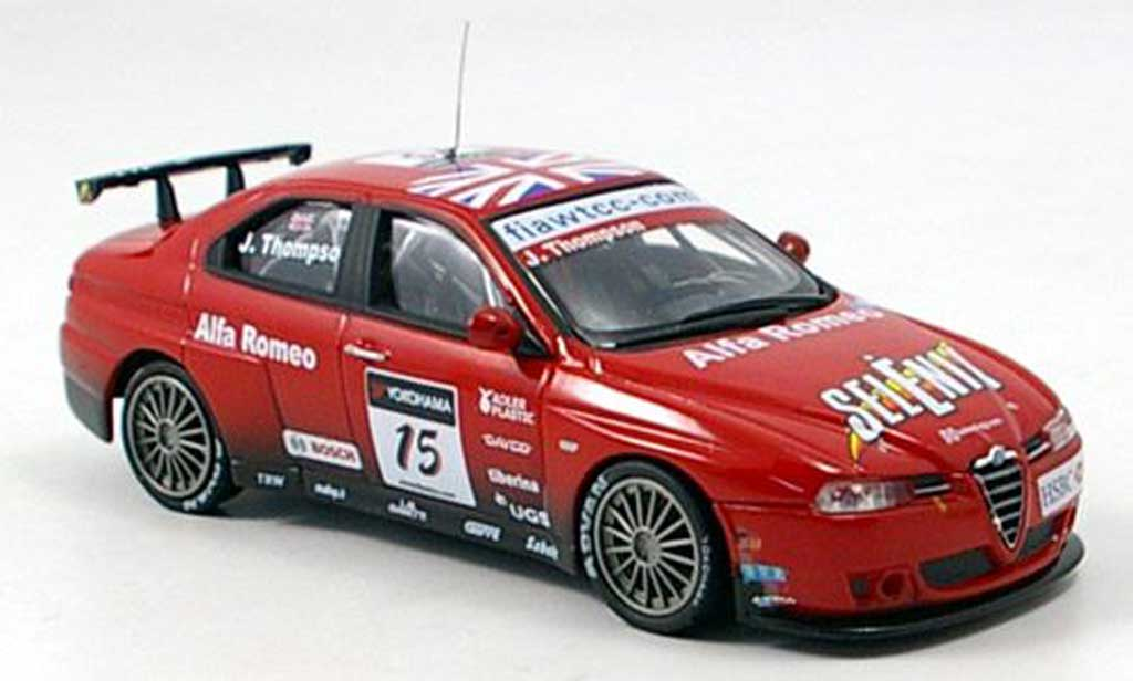 Alfa Romeo 156 GTA WTCC 1/43 M4 No. 15 J. Thompson WTCC 2007 miniature