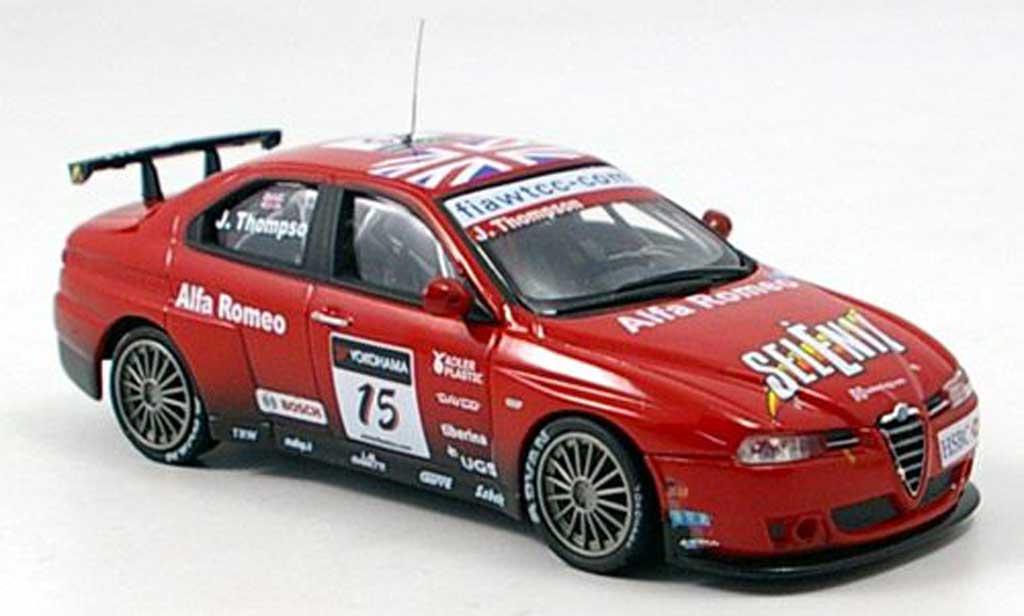 Alfa Romeo 156 GTA WTCC 1/43 M4 No. 15 J. Thompson WTCC 2007 diecast model cars