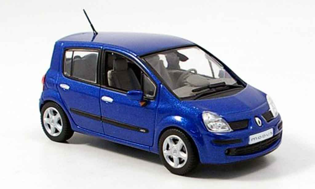 renault modus miniature bleu 2006 norev 1 43 voiture. Black Bedroom Furniture Sets. Home Design Ideas