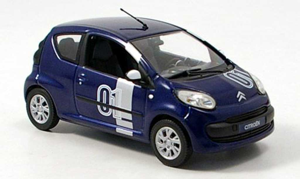 Citroen C1 1/43 Norev Chrono No.01 bleu 2007 miniature