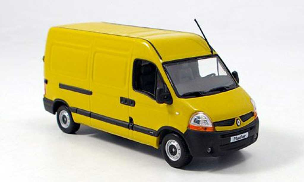 Renault Master 1/43 Norev Boite yellow 2006 diecast model cars