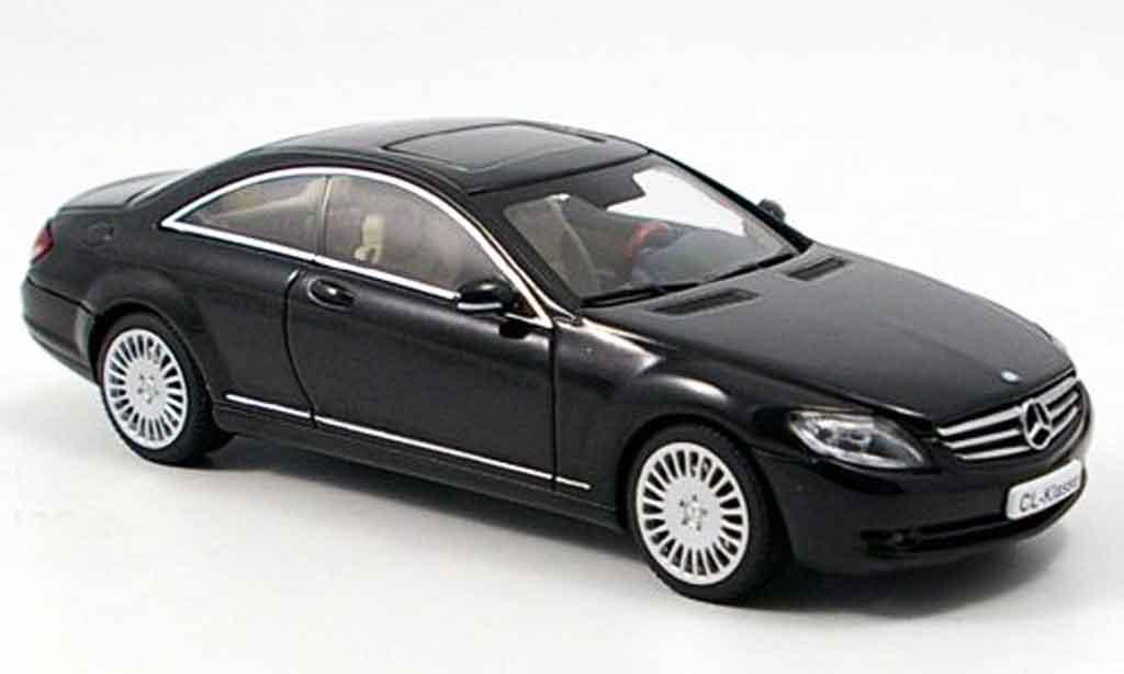 mercedes classe cl miniature noire autoart 1 43 voiture. Black Bedroom Furniture Sets. Home Design Ideas