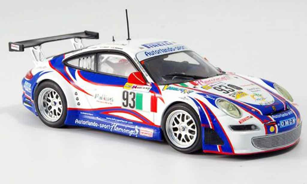 Porsche 997 GT3 RSR 1/43 Minichamps 2007 Autorlando Le Mans miniature