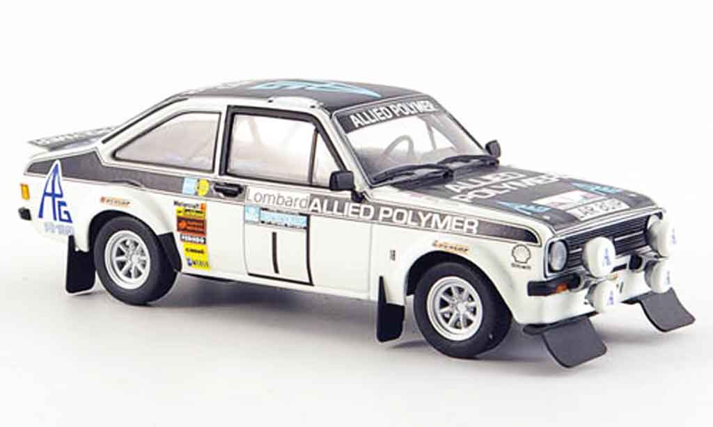Ford Escort RS 1800 1/43 Minichamps Sieger RAC Rally 1975 MK2 miniature