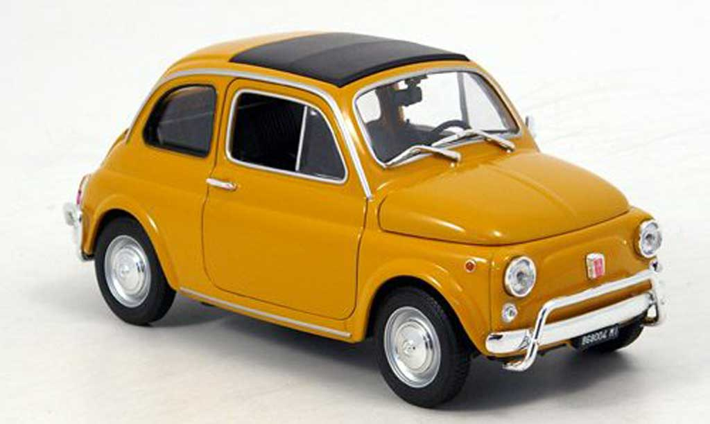 Fiat 500 1/18 Welly ocker 1957 miniature