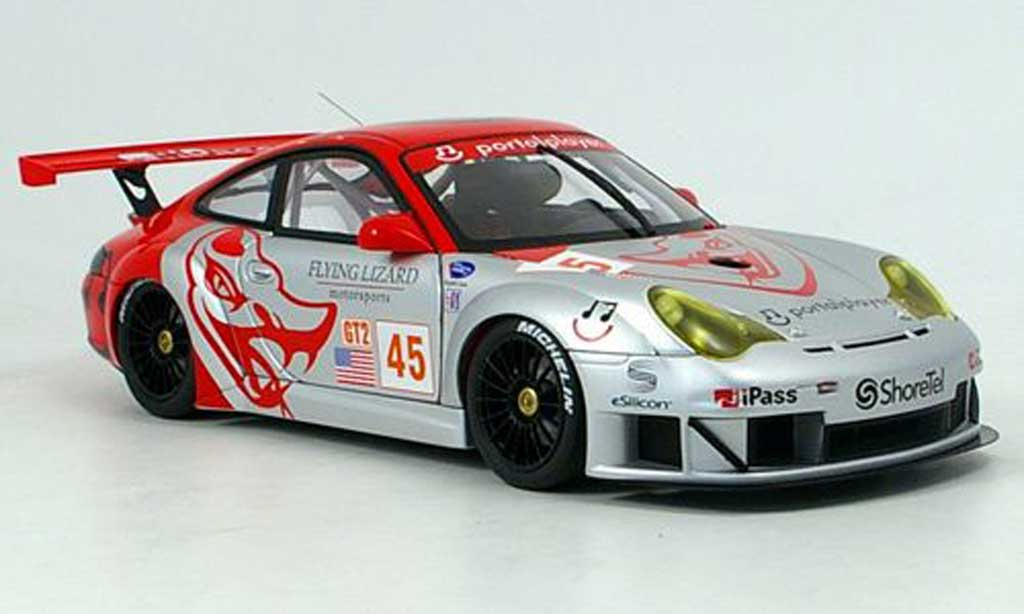 Porsche 996 GT3 RSR 1/18 Autoart flying lizard no.45 miniature