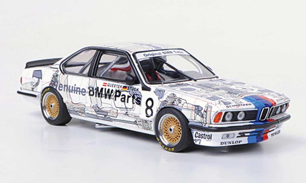 Bmw 635 CSI 1/43 Autoart Gr.A No.8 Team Schnitzer H.J.Stuck / D.Quester Gruppe A 1984 miniature