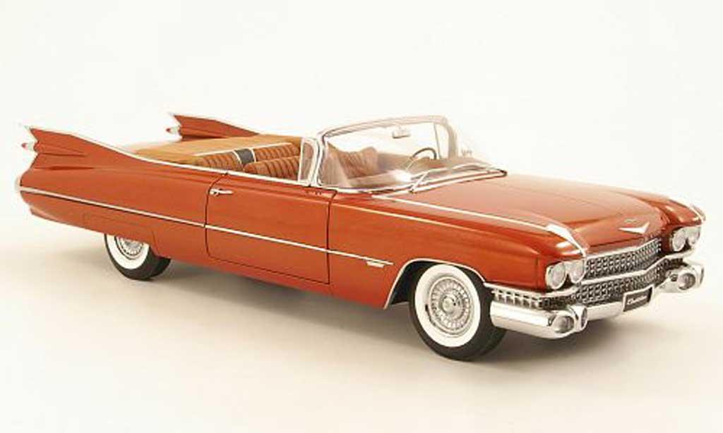 Cadillac Serie 62 1/18 Autoart Convertible marron 1959 miniature