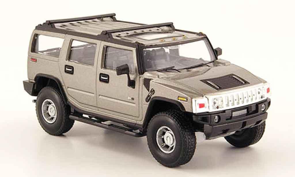 Hummer H2 1/43 Cararama grey diecast model cars
