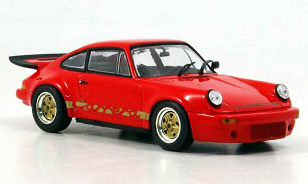 Porsche 911 RS 1/43 Minichamps Carrera 3.0 rouge miniature