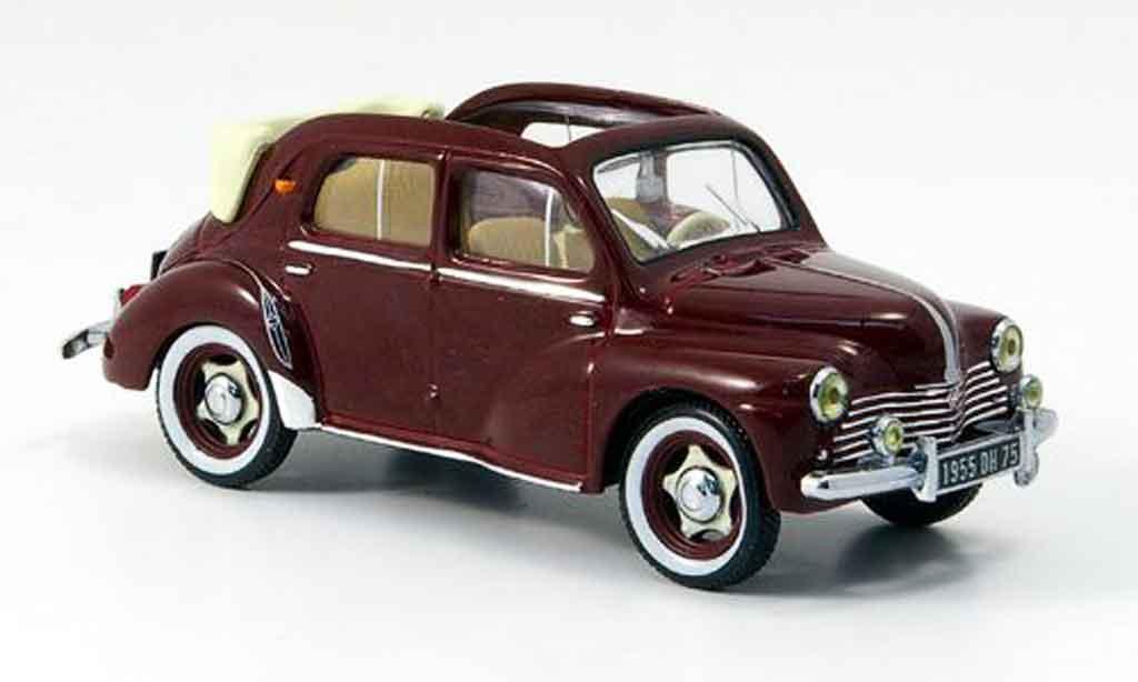 Renault 4CV 1/43 IXO cabrio rouge 1955 miniature