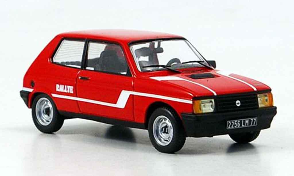 Talbot Samba 1/43 IXO Rally rouge 1983 miniature