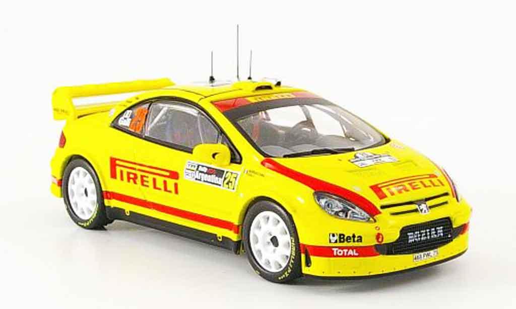Peugeot 307 WRC 1/43 IXO no.25 pirelli rallye argentine 2006 miniature