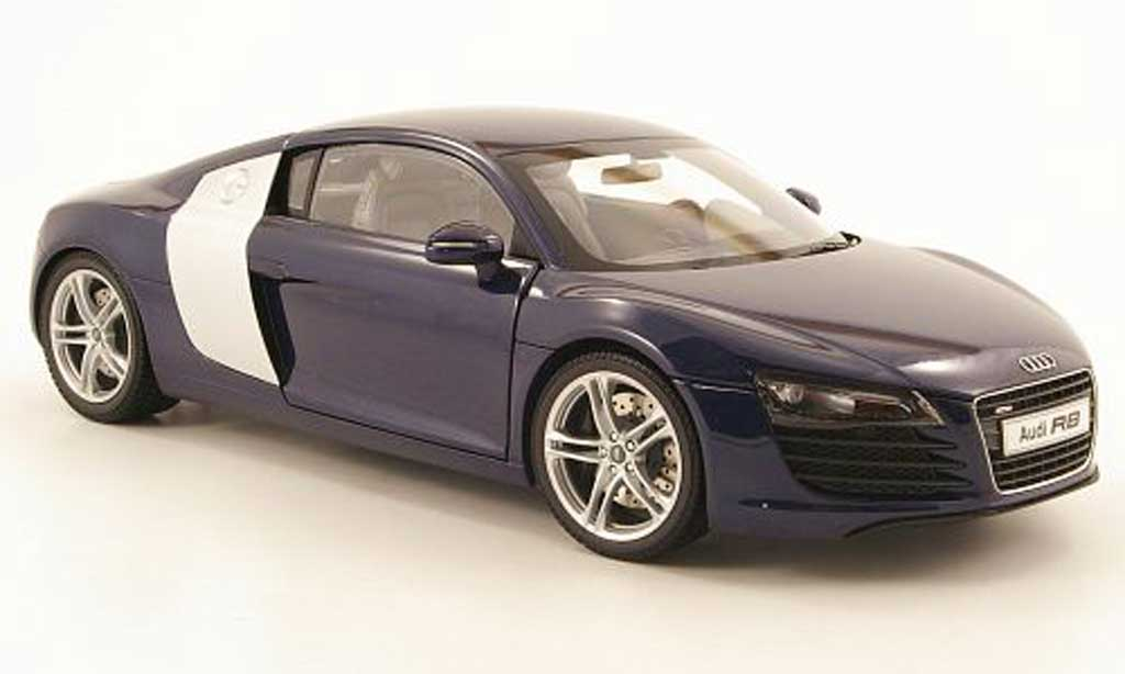 audi r8 miniature bleu kyosho 1 18 voiture. Black Bedroom Furniture Sets. Home Design Ideas