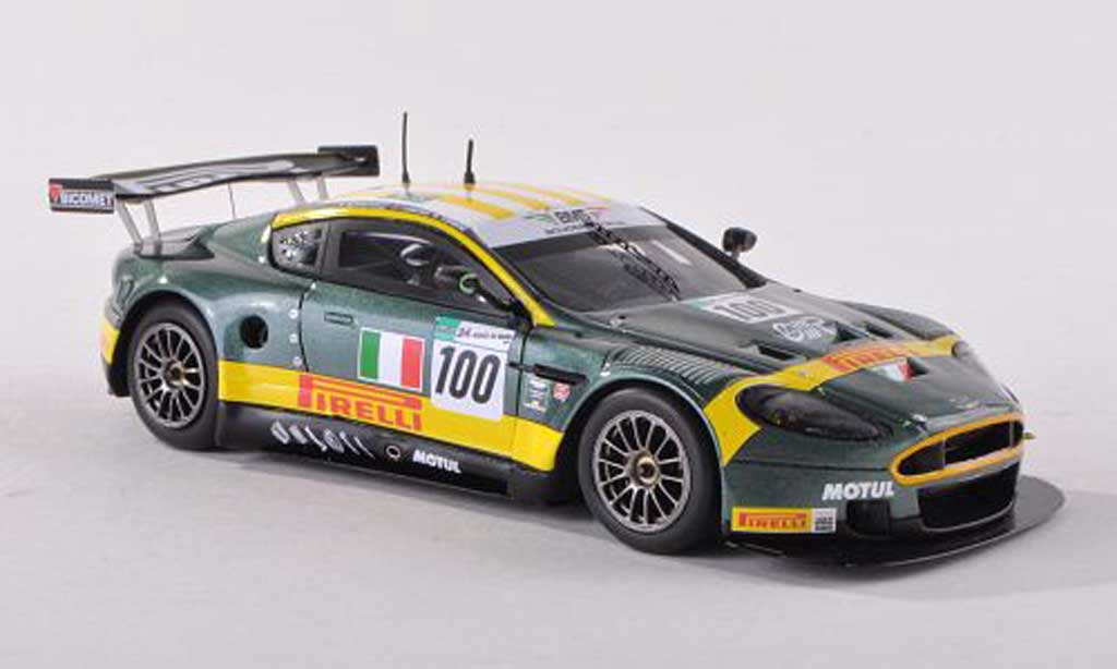 Aston Martin DBR9 1/43 Spark AMR BMS No.100 24h Le Mans 2007 Babini/Davies/Malucelli miniature