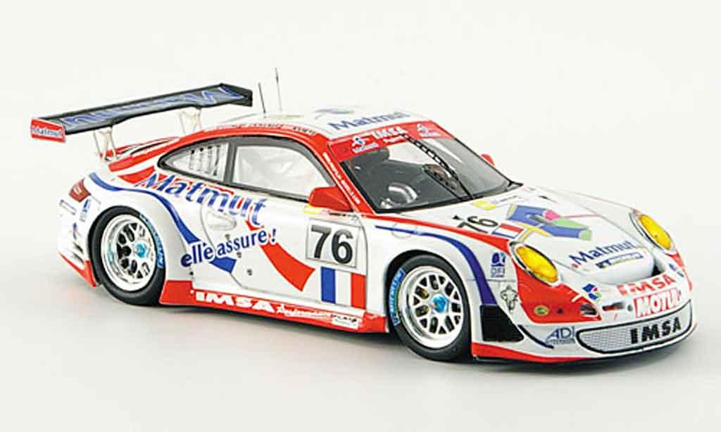 Porsche 997 GT3 RSR 1/43 Spark 2007 IMSA Performance No.76 Le Mans diecast model cars